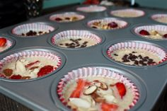 Baked oatmeal cups. Just the right size for the FODMAPer!