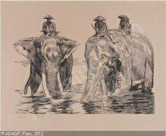 Paul Jouve éléphants