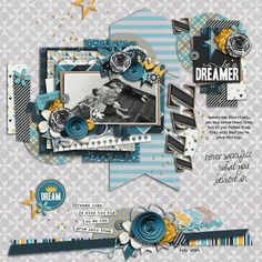 be a dreamer by lingovise | Hopeful : Solo Template by Zoliofrope | Big Dreams by Shawna Clingerman + Sugary Fancy