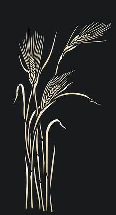 Wild Rye Grass Stencil
