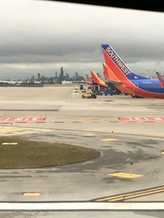 Midway Airport with Chicago skyline in background. Midway Airport, Southwest Airlines, Chicago Skyline, Airports, Aircraft, Aviation, Planes, Airplane, Airplanes