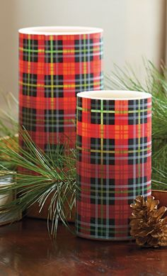 Our Tartan Battery-operated Candles add a flickering touch of festive and classic ambiance to your holiday décor.