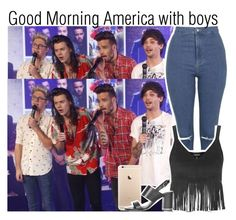 """""""Good Morning America with boys"""" by lucybitch ❤ liked on Polyvore featuring Topshop"""