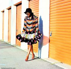 Tribal Prints: Top by Erin London and skirt by Circle T by Marilyn Lenox