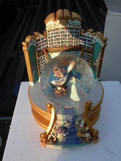 Disney Store Beauty and The Beast Library Snowglobe New Musical with Le Pin RARE | eBay - This looks amazong, I want it!!
