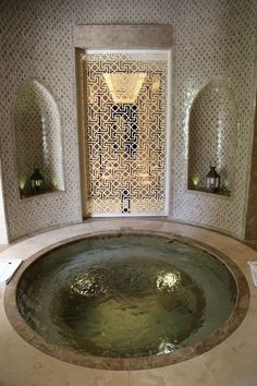 A hammam in Marrakech. Part of the photos for examples of functional uses of art in Title of art (if applicable): A hammam in Marrakech Website & URL where art was found Date of creation: na Date accessed: 2017 Reflection: Morrocan Decor, Moroccan Bathroom, Bathroom Spa, Spa Tub, Bathroom Ideas, Bathtub Ideas, Salon Interior Design, Bathroom Interior Design, Piscina Interior