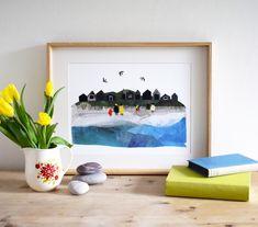 Collage Illustration, Illustrations, Very Lovely, Nice, Beach Day, Robin, Frame, Instagram, Home Decor