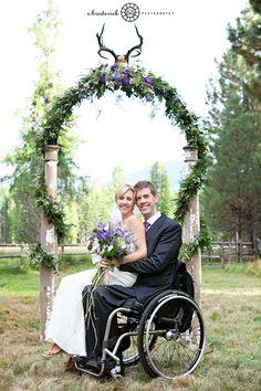 Wheelchair wedding