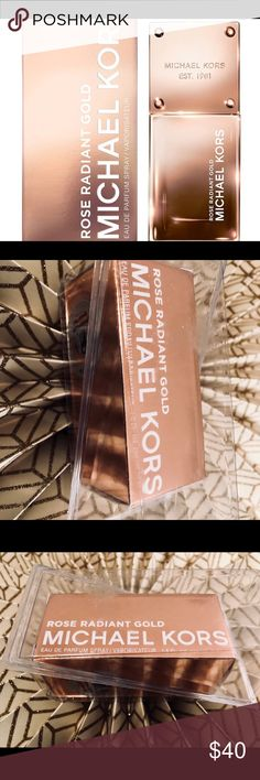 Rose Radiant Gold by Michael Kors Perfume Unopened  Brand New  Rose Radiant Gold by Michael Kors Eau de Parfum Women's Perfume - 1.0 fl oz Luminous. Radiant. Brilliant. Rose Radiant Gold is a textural floral fruity woody scent. Perfect for any occasion. Michael Kors Other