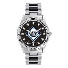 Men's Game Time Tampa Bay Rays Heavy Hitter Watch, Silver