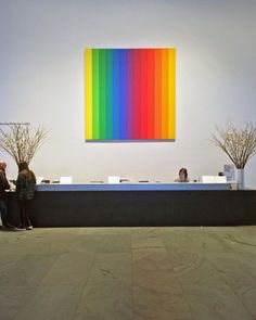 """Celebrate the life and work of the late artist Ellsworth Kelly by visiting ""Spectrum IV"" in our lobby. No ticket required. [Ellsworth Kelly. ""Spectrum…"""