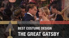 """Best Costume Design winner: Catherine Martin, The Great Gatsby Best Costume Design, Oscars 2014, 12 Years A Slave, Social Media Trends, Oscar Winners, The Great Gatsby, Academy Awards, In Hollywood, Texts"