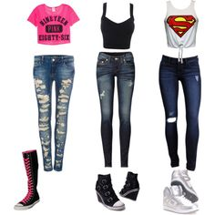 """""""Skater girl outfits"""" by salinas71166 on Polyvore"""