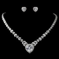 Elegance by Carbonneau Rhodium Clear Marquise & Heart CZ Jewelry Set Wedding Jewelry Sets, Wedding Accessories, Jewelry Accessories, Hibiscus, Bridal Rings, Bridal Jewellery, Bridal Shoes, Gold Jewellery, Jewelry Box