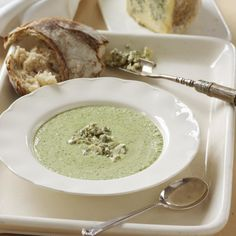 Try Tom Aikens' delicious Broccoli & Blue Stilton soup recipe, and other recipes from Red Online Cream Soup Recipes, Chowder Recipes, Haddock Chowder Recipe, Broccoli And Stilton Soup, Vegetarian Christmas Recipes, Vegetarian Recipes, Sugar Free Eating, Gremolata Recipe, Christmas Starters