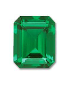 7x5mm Octagon Emerald Cut Gem Quality Chatham-Created Cultured Emerald .78-.96 Ct.