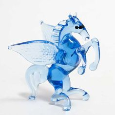 New Products. Glass Blue Pegasus Figurine is hand-created by Russian artist in art studio ... http://russian-crafts.com/glass-figurines/glass-animals/blue-pegasus-figurine.html