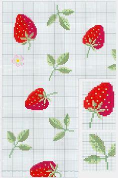 La nappe fraise en point de croix
