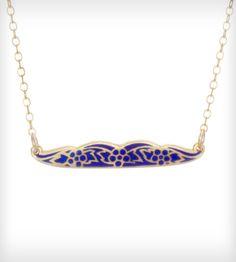 Vermeil Mustache Necklace