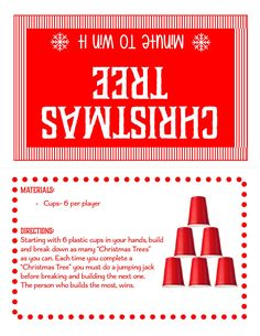 Minute To Win It Games Christmas, Christmas Party Games For Groups, Valentine's Day Party Games, Xmas Games, Holiday Party Games, Minute To Win It Games For Adults, Christmas Games To Play, Christmas Activities For Families, Christmas Parties