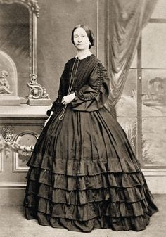 ~ I love this dress!!!!~  @Cindy Threat Cooper here is just one of the many I found (searched Civil War ladies dresses) - Pinterest!