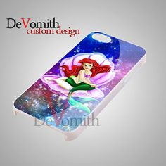Little Mermaid Galaxy Rainbow - iPhone 4/4s/5 Case - Samsung Galaxy S3/S4 Case - Black or White by DeVomith, on Etsy