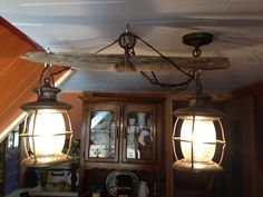 Western decor.. Old Single tree light fixture, that my hubby made me.. Love it
