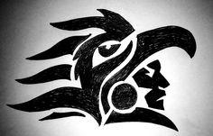 Aztec Warrior Eagle Black