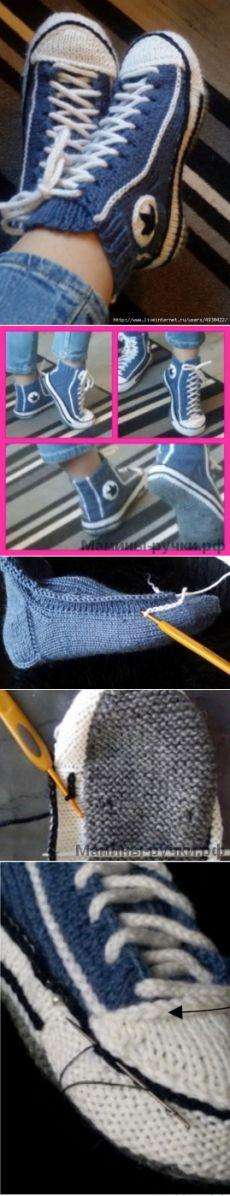 Crochet Patterns Socks Shoes, slippers, connected radios of Women. Crochet Sandals, Crochet Boots, Knitting Designs, Knitting Patterns, Crochet Patterns, Crochet Ripple, Diy Crochet, Arm Knitting, Knitting Socks
