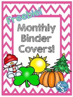 Monthly Binder Covers and Spines Teacher Binder Organization, Preschool Teachers, Esl Resources, Binder Covers, Holiday Decorations, Classroom Management, Worksheets, Parties, Activities