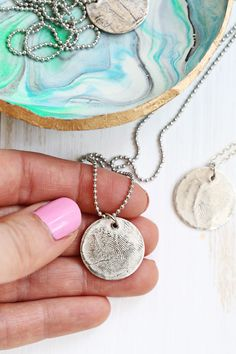 This silver clay seems like a blast to work with. I actually really love the Beautiful Mess thumbprint pendant ideal but it would work for so many things.