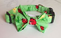 St. Patrick's Day Shamrocks & Lady Bug Dog and Cat  Bow Tie or Flower Collar
