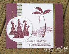 Three Wise Men from afar Christmas year cheer holiday cardmaking rubber stamps Stampin Up
