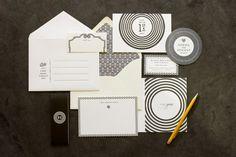 Stunning black & ivory combo invites: Vera Wang + MaeMae Paperie