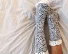 Parker Cable Socks Crochet Pattern by Lakeside Loops - crochet envy