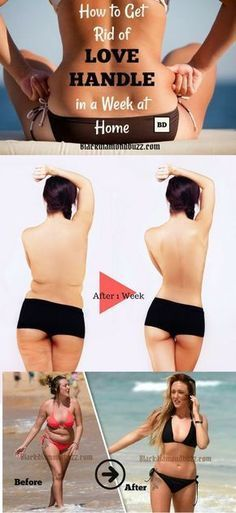 Exercises to get rid of love handles fast in 1 week at home