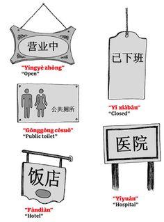 Mandarin common signs