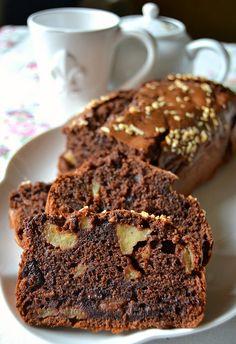 plumcake ciocco-mela e cannella