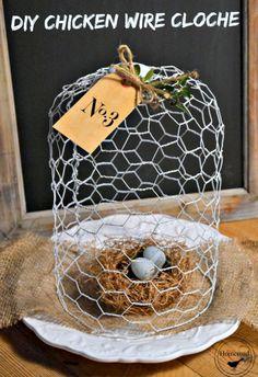 DIY chicken wire cloche www.homeroad.net