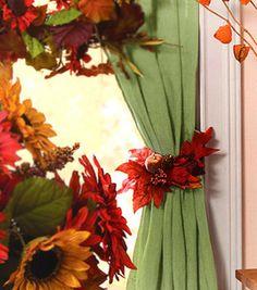 Fall foliage tie backs
