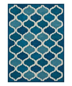 Take a look at this Cobalt Blue Trellis Wool Rug today!