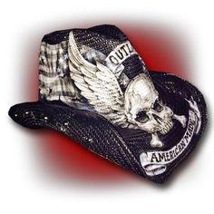 wornstar outlaw hat looking like a rockstar wear wornstar custom cowboy hats hats cowboy hats. Black Bedroom Furniture Sets. Home Design Ideas