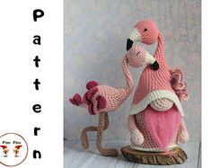 Crochet Basics, Diy Crochet, Crochet Toys, Crochet Patterns Amigurumi, Amigurumi Doll, Flamingo Toy, Embroidery Store, Halloween Crochet, Diy Halloween Decorations