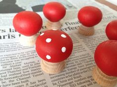Toadstool door knobs, toadstool cupboard, kids bedroom fairy accessories
