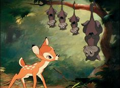 Bambi, with the opossums