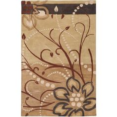 Art of Knot Tuscaloosa Hand Tufted Wool Area Rug, 5' x 8', Beige