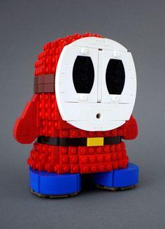 — Lego Shy Guy Image by Koen (via:legosaurus) Lego Mario, Lego Super Mario, Super Mario Art, Shy Guy, Lego Design, Lego Dragon, Pokemon Mew, Lego Sculptures, Amazing Lego Creations