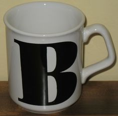 Vintage Letter B Coffee Mug Typography TAMS Made in England   eBay