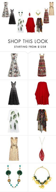 """Select Your Dress..??"" by yagna ❤ liked on Polyvore featuring Valentino, Dolce&Gabbana, Oscar de la Renta, Balenciaga, Aurélie Bidermann and vintage"