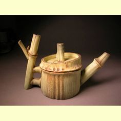 Alice Ballard ceramic teapot - ode to bamboo (my name for it)...